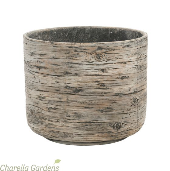 Driftwood Effect Planters Grey: 4 Size Options