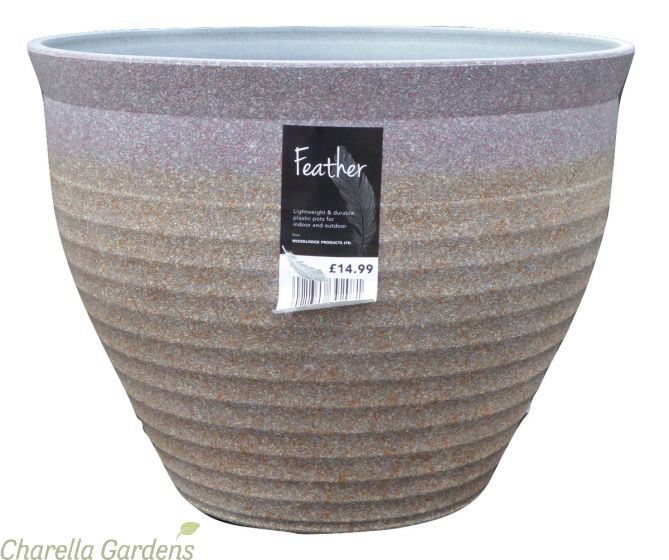 Feather Stone pot by Charellagardens
