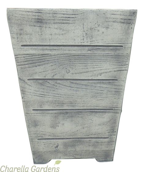 Light Wood Effect Square Planters available in 4 sizes