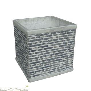 Greenwich Brick Effect Square Planters - Upto 3 Size Options