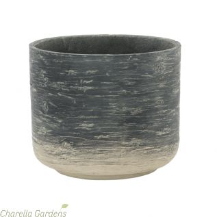 Driftwood Effect Planters Dark Grey: 4 Size Options
